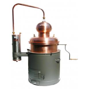 Distiller with mixer unit