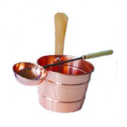 Copper sauna set